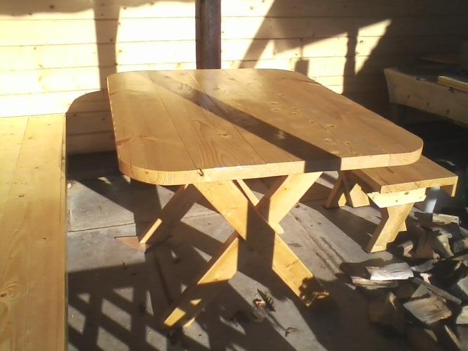Своими руками сделать стол в беседку 26